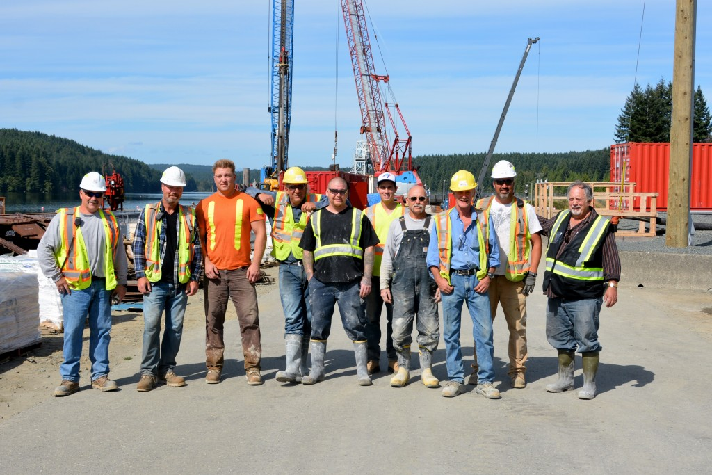 LiUNA Local 1611, John Hart Dam, LiUNA members, construction worker, labourer
