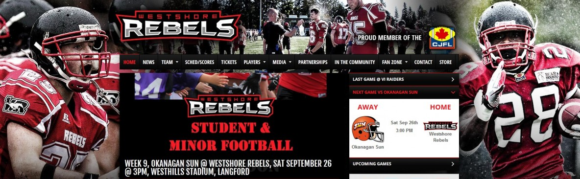 Westshore Rebels, football, Local 1611, LiUNA, Landale